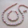 Rhodonite and freshwater pearls set