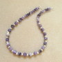 Amethyst and freshwater pearls necklace