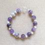 Amethyst and freshwater pearls bracelet