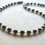 Hematite and freshwater pearls necklace detail