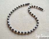 Hematite and freshwater pearls necklace