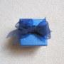 Dark blue small jewelry box