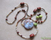Agate, jasper and chrysoprase set w