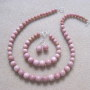 Rhodonite set