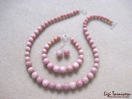 Rhodonite set w