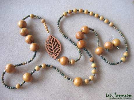 Jackfruit wood and jasper set w