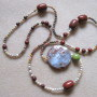Agate, jasper and chrysoprase necklace