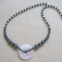 Rose quartz and hematite necklace