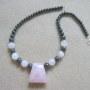 Rose quartz and hematite necklace