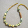 Honey jade and chrysoprase necklace