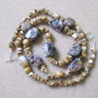 Picture jasper and amethyst necklace