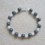 Rose quartz and hematite bracelet