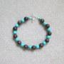 Turquoise and bronzite bracelet