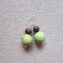 Brecciated jasper and chrysoprase earrings