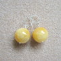 Honey jade earrings