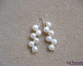 White freshwater pearls earrings w