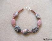 Rhodonite bracelet w