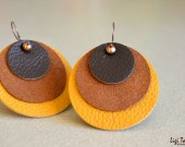 Leather and suede earrings
