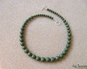 Green jasper and sterling silver - necklace