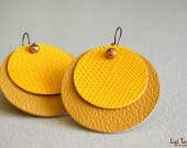 Leather and faux leather earrings